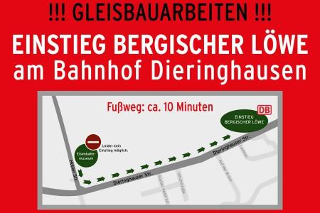 !! ACHTUNG ACHTUNG MITREISENDE !! Einstieg am Bahnhof Dieringhausen