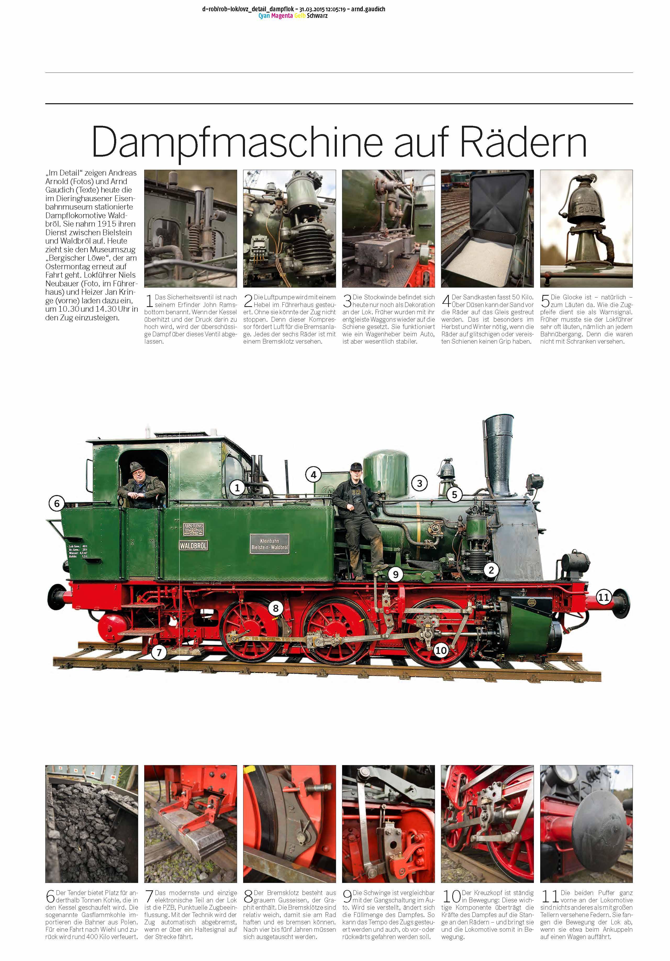Dampfmaschine auf Rädern