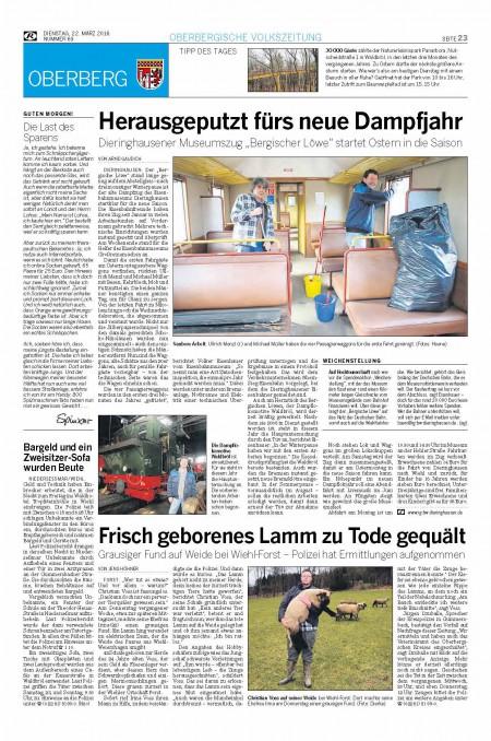 Eröffnungsfahrt 2016 – Rundschau Mär 16