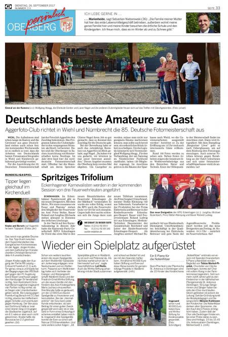 Deutschlands beste Amateure zu Gast – Rundschau September 17