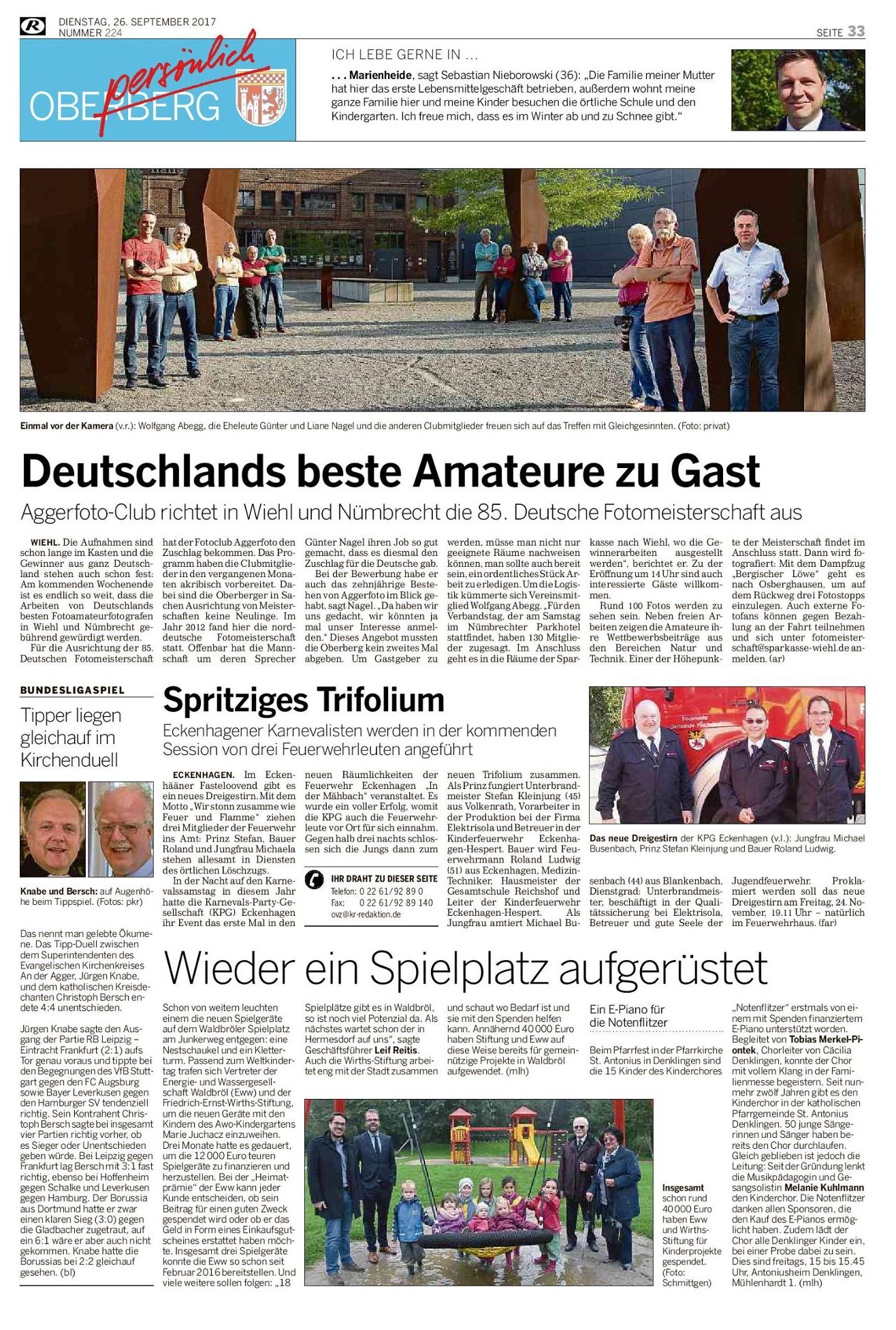 Deutschlands beste Amateure zu Gast – Rundschau September 17